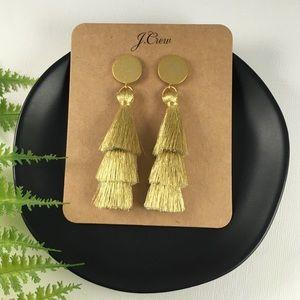 ✨NWT J.Crew Gold Tassel Drop Earrings
